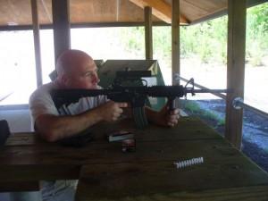 David Cobb Shooting the M-16