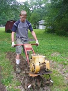 Me Plowing the Garden
