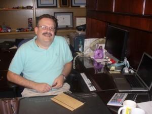 Jim at his Desk