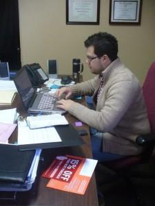 Pastor Jared at Work